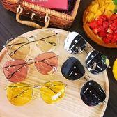 夏季新款墨鏡簡約大框韓版潮流透明顯臉小男女太陽鏡眼鏡防曬墨鏡CY 酷男精品館