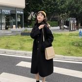 毛呢外套 秋季2020新款韓版中長款毛呢外套女秋冬學生寬鬆氣質春秋呢子大衣 新年慶