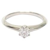 Tiffany & Co 蒂芬妮 D0.21ct六爪鑽石戒指 9.5號 【二手名牌BRAND OFF】