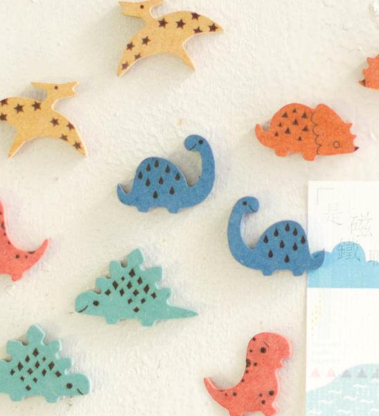 小恐龍磁鐵名片夾┇彩色 名片夾 療癒小物