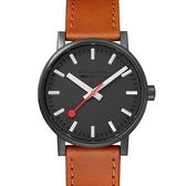MONDAINE 瑞士國鐵evo2時光走廊腕錶 – 40mm / 黑棕 40120LG