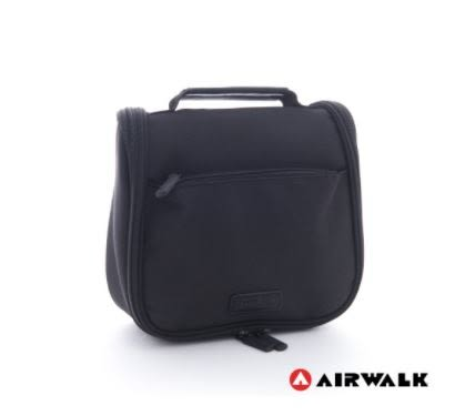 Backbager 背包族【美國 AIRWALK】小方塊 旅行收納 盥洗包/萬用包 黑
