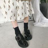 chic鞋子英倫風原宿ins小皮鞋女學生復古韓版新款百搭鞋春