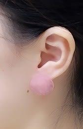 [協貿國際]天然粉水晶耳環925純銀耳針單對價