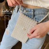 特價品-Y珍珠側背小包-白  【07190001】
