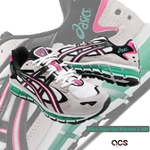 Asics 休閒鞋 Gel-Kayano 5 360 米白 桃紅 綠 全掌亞瑟膠 男鞋 【ACS】 1021A160101