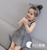女童洋裝-夏季女童連身裙夏裝兒童背心裙女寶寶無袖棉麻嬰兒裙子-奇幻樂園