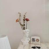 北歐ins風復古大衛花瓶水培擺件化妝台化妝刷收納桶網紅拍照道具【全館免運】