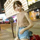 背心吊帶 背心吊帶韓版新款外穿內搭上衣打底吊帶百搭無袖T恤針織背心女    蜜拉貝爾