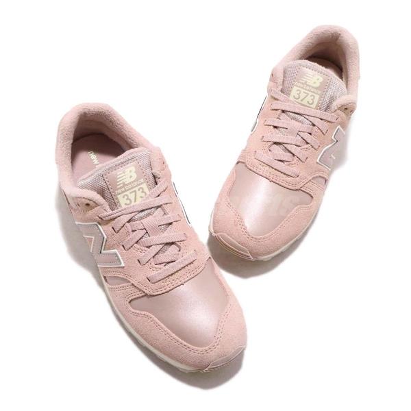 New Balance 復古慢跑鞋 373 NB 粉紅 白 麂皮 復古 休閒鞋 運動鞋 女鞋【PUMP306】 WL373PPIB