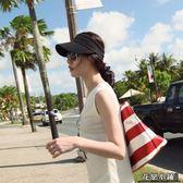 帽子女夏天遮陽防曬空頂鴨舌帽太陽帽潮牌街頭嘻哈棒球帽韓版運動