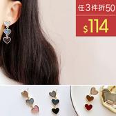 耳環 絲絨 愛心 色系 漸變小桃心 甜美 耳環【DD1711089】 BOBI  11/30