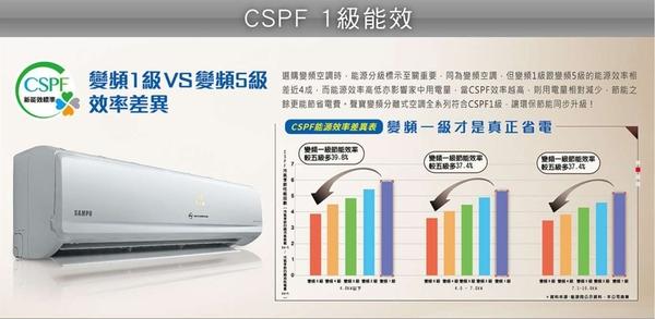 *~新家電錧~*【SAMPO聲寶 AU-PC22DC1/AM-PC22DC1】變頻冷暖空調~包含標準安裝