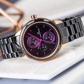Max Max 魅夜三眼計時陶瓷腕錶 37mm-禮盒組 MAS7003S-5-SET 熱賣中!
