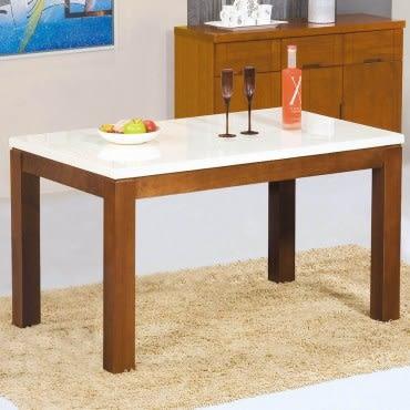 【艾木家居】麗娜4.3尺石面餐桌-柚木色