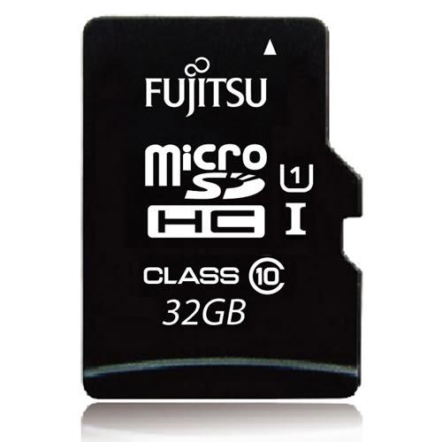Fujitsu microSDHC UHS-I U1-32GB記憶卡(讀80MB/s) - 含轉卡【愛買】