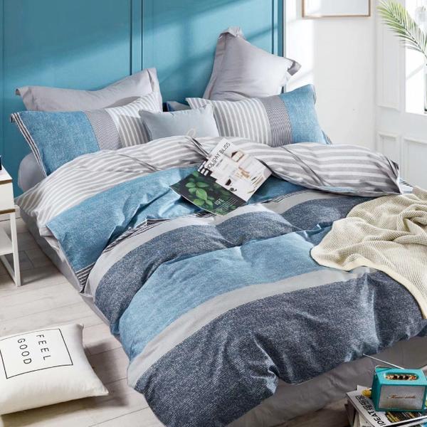 Artis-雙人加大床包/四季被四件組 愛爾蘭 雪紡棉