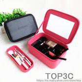 韓國小號便攜多層化妝箱手提專業大容量旅行洗漱收納包簡約防水女「Top3c」