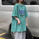 短袖T恤女INS潮韓版寬松BF原宿風半袖學生小個子上衣夏裝新款
