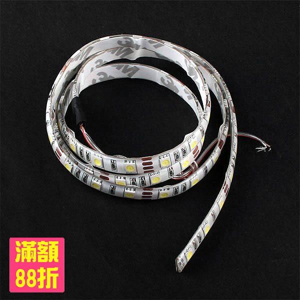 5050 LED 燈條 白光 軟燈條 DC 12V 100cm 軟條 1米 防潑水 3M 背膠(17-1272)