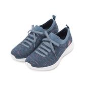 SKECHERS ULTRA FLEX 綁帶運動鞋 藍 13101-NVPK 女鞋