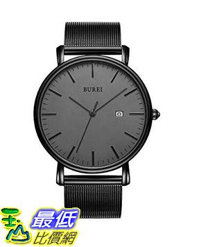 [8美國直購] 手錶 BUREI Men s Fashion Minimalist Wrist Watch Analog Date with Stainless Steel Mesh Band B06ZYXZNXY