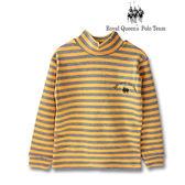 半高領長袖雙色條紋上衣RQ POLO 小童秋冬款 [16006]