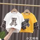兒童T恤春秋裝韓版長袖打底衫小童寶寶體恤男童裝嬰兒可愛圓領衫t 小艾新品
