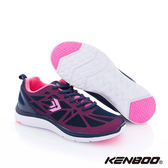 KENBOO(女)- 蛛網面紗 彈力好走運動鞋-深藍