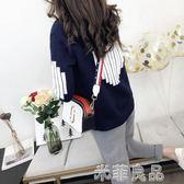 毛衣外套女韓版新款裝女裝寬鬆長袖上衣短款針織開衫 『米菲良品』