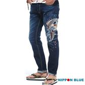 【專櫃新品】水悅櫻鯉精繡低腰直筒褲 - BLUE WAY  NIPPON BLUE日本藍
