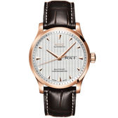 MIDO 美度 Multifort 先鋒系列經典機械手錶-銀x玫瑰金框/42mm M0054313603100