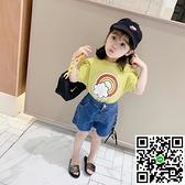女童短袖T恤兒童T寶寶夏裝上衣半袖【風之海】