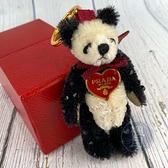 BRAND楓月 PRADA 水鑽 毛絨絨 熊熊 熊貓 造型 吊飾 鑰匙圈 配件 金屬 掛件