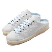 adidas 拖鞋 Stan Smith Mule 灰 藍 女鞋 穆勒鞋 貝殼頭 休閒鞋 運動鞋【ACS】 FZ0221