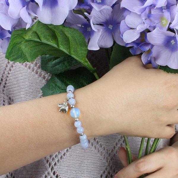 藍紋瑪瑙手鍊-設計師經典手創系列-蔚藍天空 石頭記