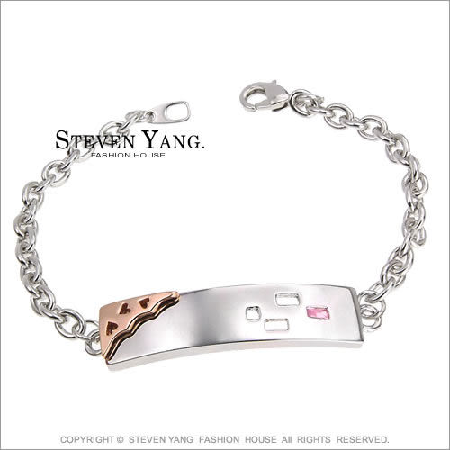 情人手鍊STEVEN YANG正白K飾「幾何密碼」對手鍊*單個價格*