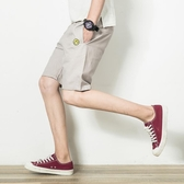 夏季薄款休閒刺繡褲子夏天裝潮流五分運動短褲男裝寬鬆男士大褲衩 超值價