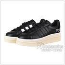 Adidas Y-3 HICHO白字LOGO皮革厚底運動板鞋(黑x奶油底)