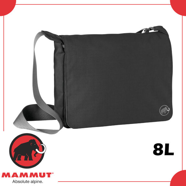 【MAMMUT SHOULDER BAG SQUARE 8L 側背包《黑》】2520-00560/單肩包/肩背包/斜背包