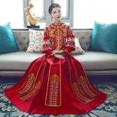 秀禾服新娘中式婚紗禮服敬酒服旗袍