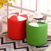 小凳子時尚板凳沙發凳成人換鞋凳客廳創意皮墩皮凳子家用單人圓凳 挪威森林