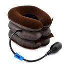 【017】便攜式充氣半絨加厚頸椎牽引器 頸托 U型枕 充氣枕