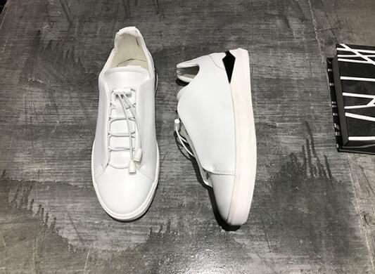 FINDSENSE MD 日系 時尚 潮 男 真皮 牛皮 綁帶 懶人款 小白鞋