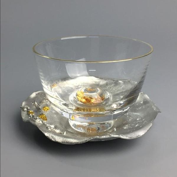 純錫手工錫制茶杯墊 金屬功夫茶道茶托隔熱茶具配件【聚寶屋】