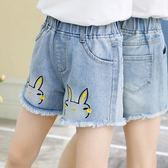 女童牛仔短褲2019新款中大童兒童夏季薄款小女孩外穿洋氣百搭熱褲