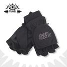 【SNOW TRAVEL 防風半指兩用手套《黑》】AR-48/防風手套/保暖手套/防滑手套/刷毛手套/機車手套