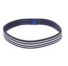 L. ERICKSON 運動髮帶〈藍白條紋〉