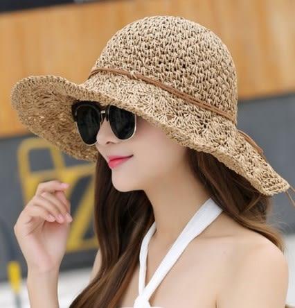 [協貿國際]  女士夏天可折疊防曬遮陽帽沙灘帽 (1入)