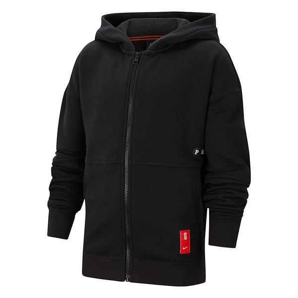 Nike B Kyrie FZ 童裝 黑 連帽 運動 休閒 外套 CU8924-010